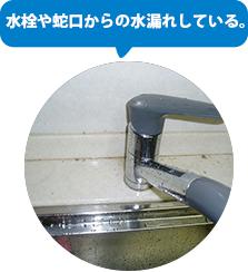 混合水栓や蛇口からの水漏れ